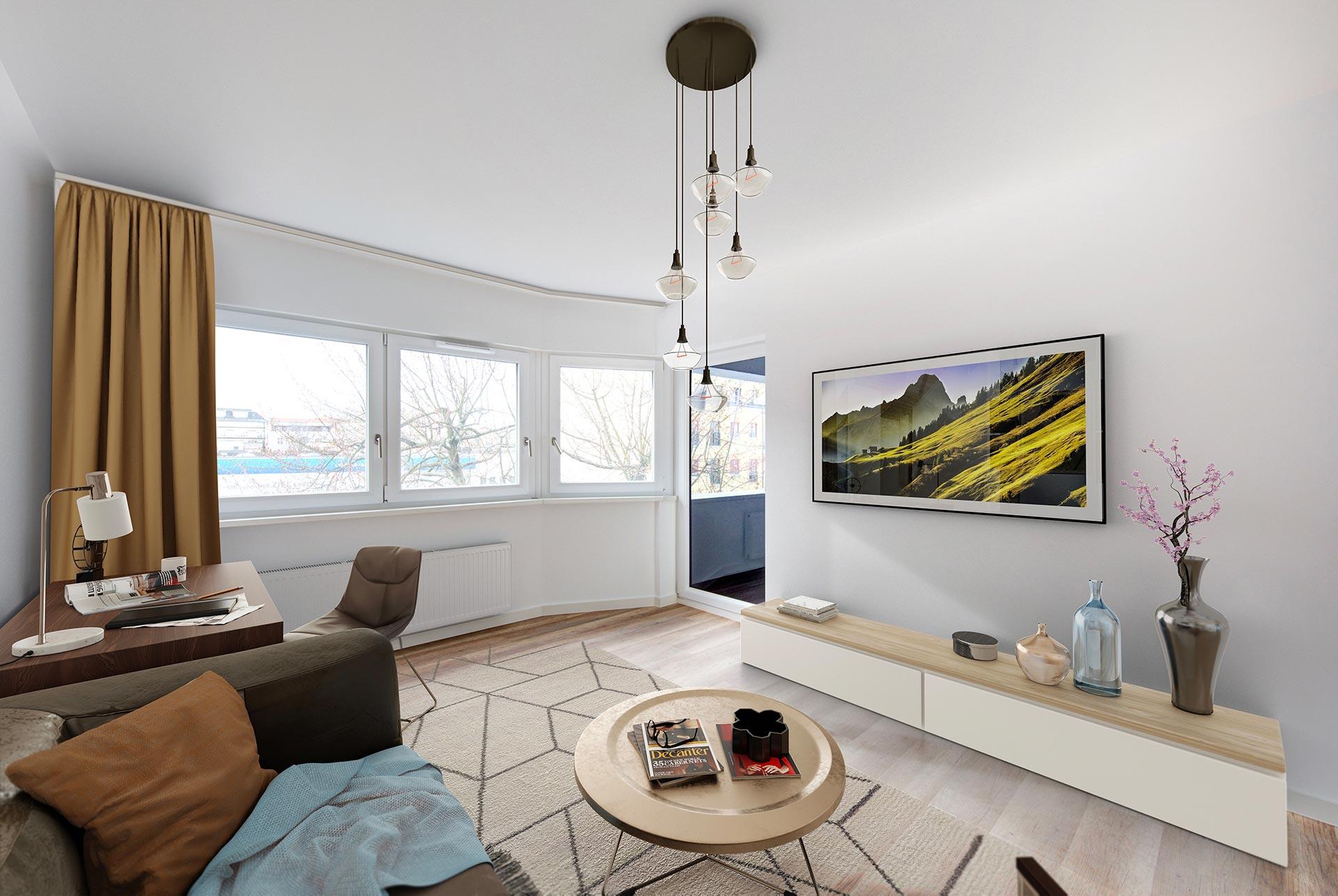 LYTZ - Lützowstrasse 37/39 - 1-Zimmer-Apartment - Wohnbereich
